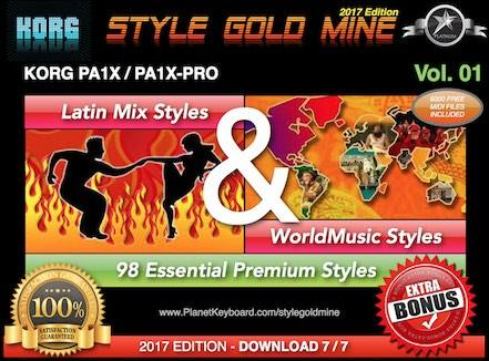 StyleGoldMine Latin Mix World Music Vol 01 Korg PA1X PA1X PRO