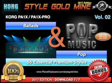 StyleGoldMine Ballads And Pop Vol 02 Korg PA1X PA1X PRO