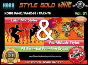 StyleGoldMine Latin Mix World Music Vol 01 Korg PA4X PA4X-61 PA4X-76
