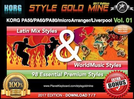 StyleGoldMine Latin Mix World Music Vol 01 Korg PA50 PA60 PA80 EK-50 MicroArranger Liverpool