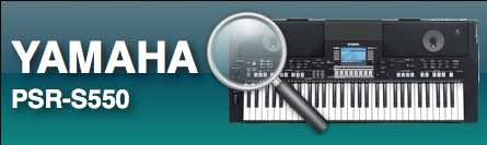 PlanetKeyboard - keyboard styles for Yamaha PSR-S550 Keyboards