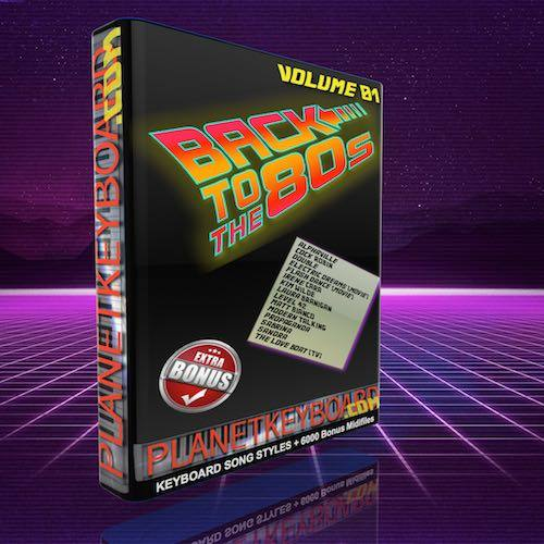 Back To The 80s Volume 01 Song Styles Standard Version For Yamaha Tyros 2