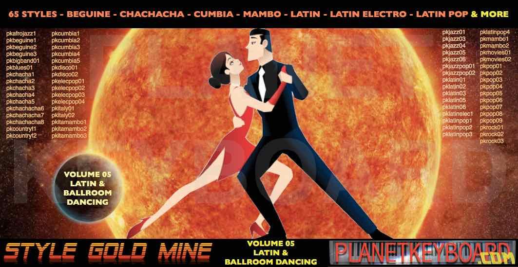 StyleGoldMine Vol 05 Latin Ballroom Dancing Yamaha PSR-S650