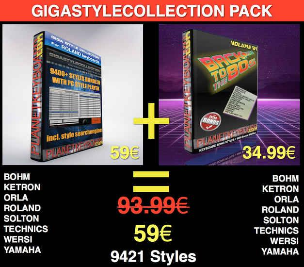 GIGASTYLECOLLECTION + BACK TO THE 80S PACK LIMITED TIME OFFER