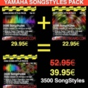 Yamaha SFF1 SongStyle 3500 Song Styles Pack With OTS LIMITED TIME OFFER