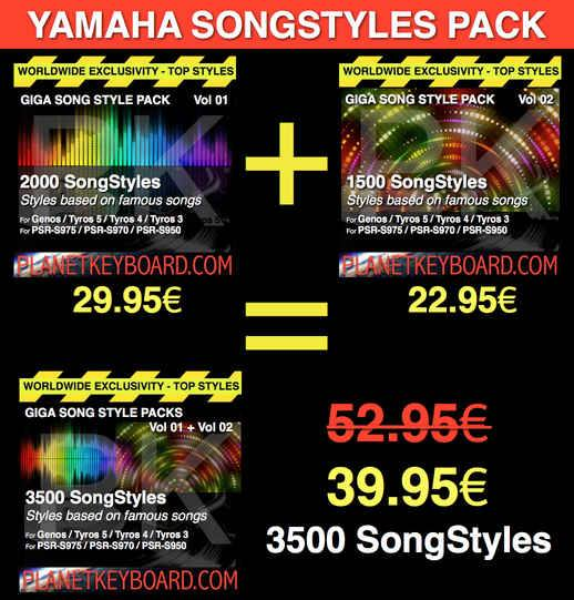 Yamaha SFF1-SFF2 SongStyle 3500 Song Styles Pack with OTS LIMITED TIME OFFER