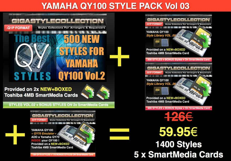 Yamaha QY-100 Style Pack 03 – 1400 Styles – 46000 Phrases LIMITED TIME OFFER