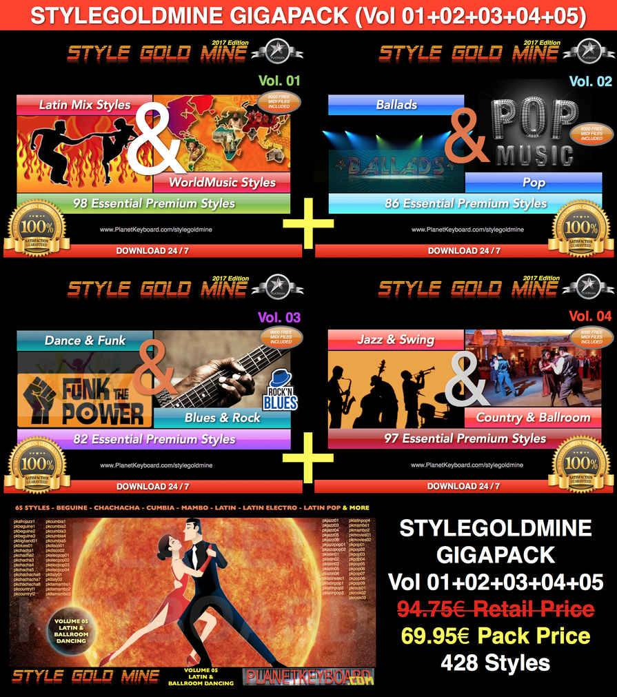 StyleGoldMine GIGAPACK (включает в себя VolumeGoldMine Volume 01 To Volume 05)