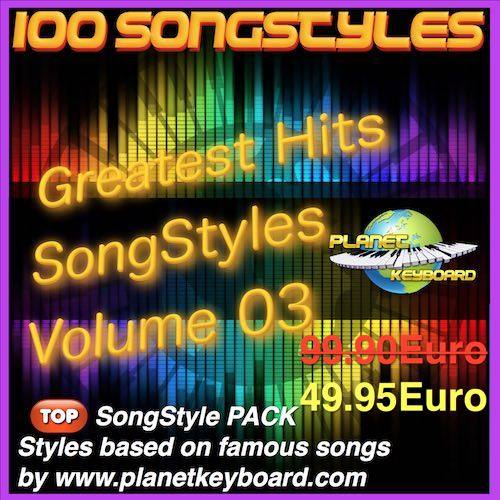 Greatest Hits Song Styles Yamaha Volym 03