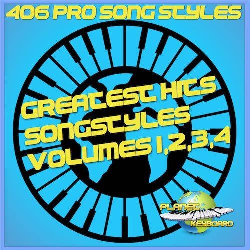 406x Grandes éxitos Song Styles  Pack Yamaha (Incluye Vol 01-02-03-04)