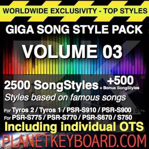 Yamaha PSR PSR-SX900 700 Styles GREATEST HITS SONGSTYLES VOL 03 100x Song Styles