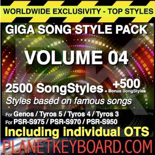 GIGA SONG STYLE PACK Vol 04 – 2500 SongStyles + 500 Bonus Song Styles With OTS