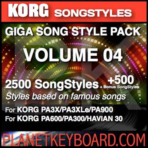 STYLES FOR KORG PA4X PA700 PA1000 PRO SONGSTYLES SONG STYLES VOL 08
