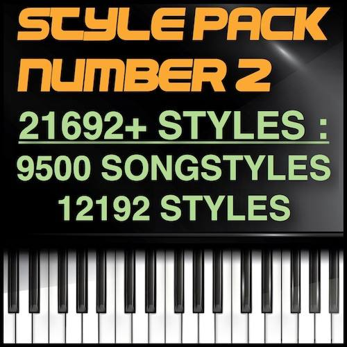 Yamaha Ultimate SongStyles Pack 21692 סטיילז - 9500 ליד סטיילז - 12192 סטיילז - נוסח פּאַק נומער 2