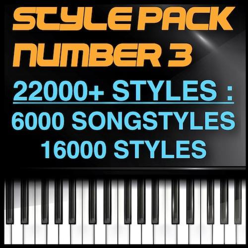 The Big Korg Song Style 22000 סטיילז - 6000 Song Styles - 16000 סטיילז - Style Pack Number 3