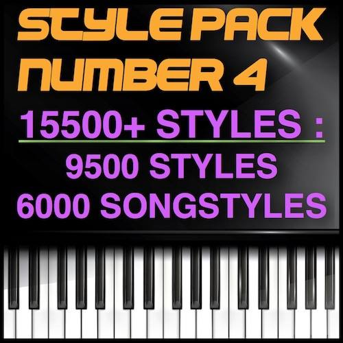 The Big Song Style Pack 15500 Styles - 6000 Song Styles - 9500 Styles - Style Pack Number 4