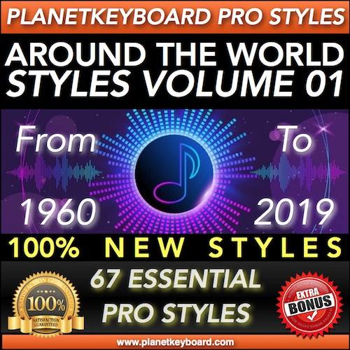 AROUND THE WORLD STYLES Volym 01 - PRO Styles från 1960 till 2019