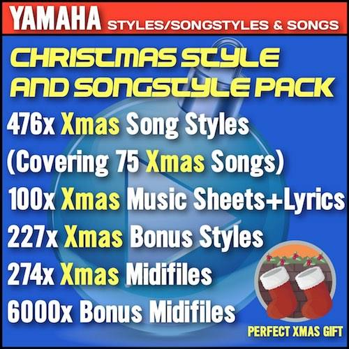 Xmas Styles Pack – Christmas Style Pack For Yamaha Keyboards