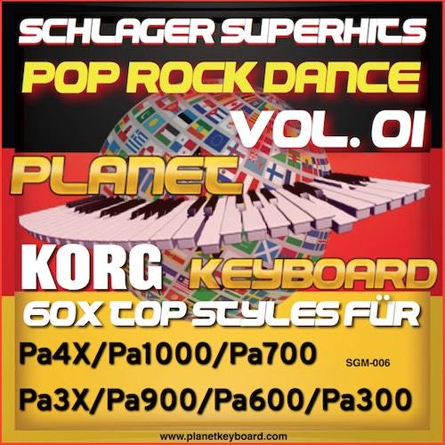 StyleGoldMine 006 – PRO Styles – Schlager SuperHits Pop Rock Dance 1 For KORG