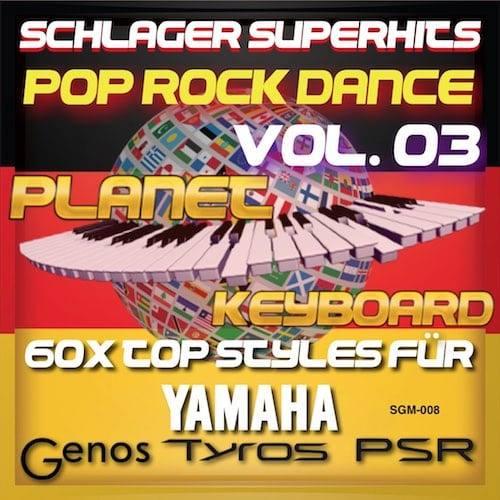 StyleGoldMine 008 - PRO Styles - Schlager SuperHits Pop Rock Dance 3 YAMAHA uchun
