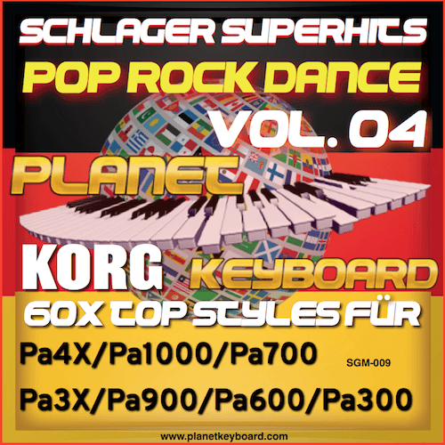 StyleGoldMine 009 – PRO Styles – Schlager SuperHits Pop Rock Dance 4 For KORG