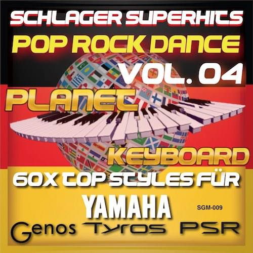 StyleGoldMine 009 - PRO Styles - Schlager SuperHits Pop Rock Dance 4 YAMAHA uchun
