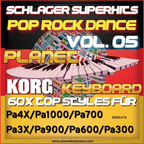 StyleGoldMine 010 – PRO Styles – Schlager SuperHits Pop Rock Dance 5 For KORG