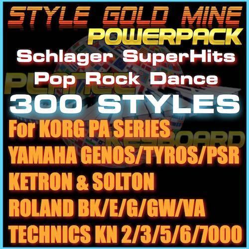 StyleGoldMine PowerPack 300 PRO STYLES (StyleGoldMine Vol 06 To Vol 10) For Ketron Korg Roland Solton Technics Yamaha Keyboards