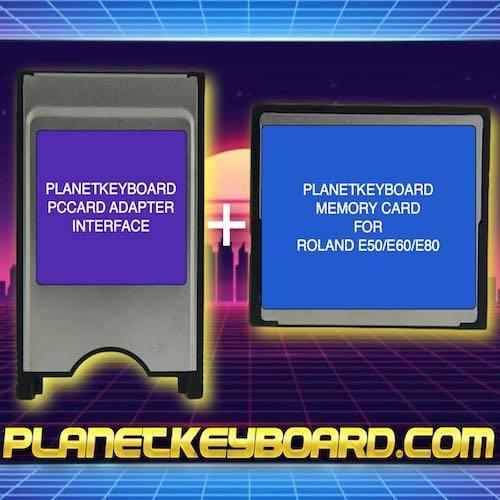 ROLAND E50/E60/E80 Card Storage Solution (Adapter+Card)